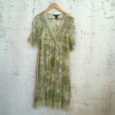 JONATHAN MARTIN GREEN SILK FLORAL DRESS 10