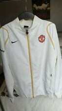 Manchester United Training Jacket small mens or large kids White