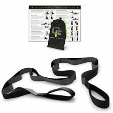 Gradient Fitness Stretching Strap, Premium Quality Multi-Loop Black/Grey