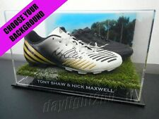 ✺Signed✺ TONY SHAW & NICK MAXWELL Boots PROOF COA 1990 2010 Collingwood Magpies