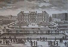 MARIETTE , PERELLE.Vue du Château de Seaux du côte du jardin. Gravure originale