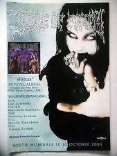 """PUBLICITE-ADVERTISING :  CRADLE OF FILTH  2000 pour la sortie de """"Midian"""""""