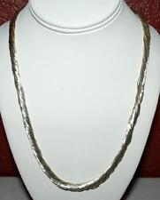 925 STERLING SILVER MULTI-STRAND LIQUID SILVER TWISTED NECKLACE 24 INCH SN8