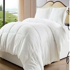 Bed In A Bag White Down Alternative Comforter/ Duvet Cover Insert, Elegant Queen