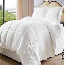 Bed In A Bag White Down Alternative Comforter/ Duvet Cover Insert, Elegant Queen