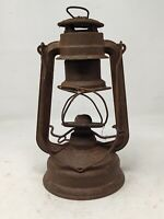 Vintage Old Iron Feuerhand Made In Germany Kerosene Lantern Lamp Without Glass