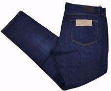 BURBERRY BRIT jeans da uomo SLIM FIT INDACO SCURO/BLU misto cotone nuova con etichetta W40 x L32