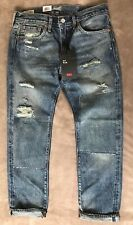 Levis 511 Premium Half Day Selvedge Jeans Slim Patched distressed NEW