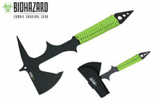 """15"""" Tactical TOMAHAWK Axe Green Paracord Wrapped Handle w/ sheath"""