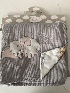 PRIMARK DISNEYBABY DUMBO THE ELEPHANT BABY BLANKET UNISEX FREE UK P&P
