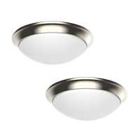 """2-PACK Dimmable LED Dome Flush Mount Ceiling Light Fixture 11"""" Modern (3 Colors)"""