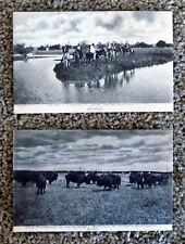 1907 Albertype Native Americans OTOE Panoply Teepees Buffalo Bliss, Oklahoma