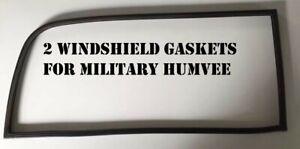 2 - MILITARY HUMVEE M998 RUBBER WINDSHIELD GASKET SEAL NSN 5330-01-209-5997