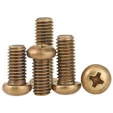 10-100PCS M2 M2.5 M3 Brass Phillips Pan Round Head Cap Bolts Screws