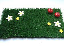 Fairy Garden Grass Yellow Flowers & Toadstools - Perfect Fairy Door Accessory