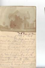 PARK RAPIDS MN 1909 Unique Handmade Governtment Issue postcard with pic of Home