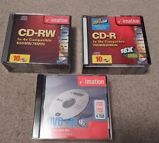 IMATION NEW 10 CD-R 700MB / 10 CD-RW 650MB/ 5 DVD+R 4.7 GBWITH JEWEL CASES