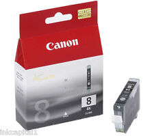 1 x Canon CLI-8Bk, CLI8B Black Original OEM Inkjet Cartridge
