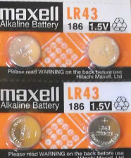 200x Maxell AG12 Battery 86A 386 LR43 SR43SW SR1142 LR1142 186 301 D186A Button