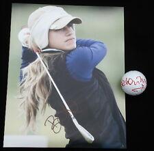 BELEN MOZO AUTOGRAPHED 8X10 PHOTO & GOLF BALL LOT (W/ PROOF!) LPGA