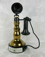 Vtg 1978 Jim Beam Decanter Bottle 1897 Desk Set Candlestick Telephone Empty