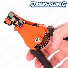 AUTOMATIC WIRE STRIPPER GENUINE SILVERLINE Adjustable Guide 22-8 AWG 170mm Plier