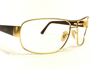 Ray Ban RB3503L 112/13 Men's Gold & Brown Aviator Sunglasses Frames 64/15~130