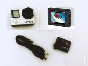Refurbished GoPro HERO 4 Black 4K 1080P Camera Camcorder LCD Touch Screen combo
