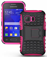 PINK GRENADE GRIP TPU SKIN HARD CASE COVER STAND FOR SAMSUNG GALAXY YOUNG-2 G130