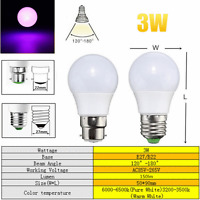 E27/B22 3/5/10/20W RGB Color Changing LED Light Lamp Bulb Remote Control 85-265V