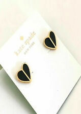 Kate spade New York earrings heritage spade heart studs, white,pink,Black,Green