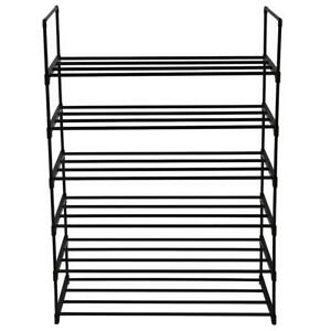 39.75 L x 11.13 W x 38.5 H Inches YOUUD Shoe Rack 5-Tier Shoe Storage Organizer Space Saving Shoe Tower Stackable Shelves Shoes Organizer Black Holds 25 Pairs of Shoes