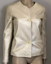 Metallic Gold Leather Jacket by CHANEL sz FR 34 US 2