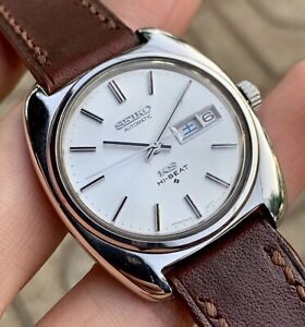 Vintage 1970s KING SEIKO 5626-7070 SS Hi-Beat Automatic Day-Date Men's Watch.