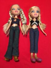 Bratz Dolls- Set Of 2 Dolls With Braids & Clothes