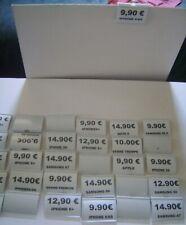 30 Cartes Etiquettes de Prix  Ovales 26mm x 17mm Bordure Dorée Affichage Vente