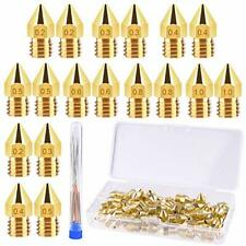 Tuparka 70pcs 3d Printer Nozzle Kit Mk8 Extruder Nozzles Brass Print Head 02