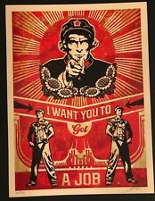 GET A JOB - Shepard Fairey - Signed/Numbered - Mint Condition