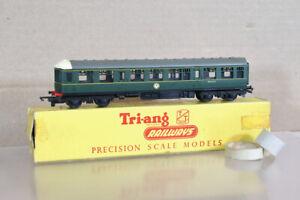 TRIANG T136 TT GAUGE BR CLASS 104 DMU DIESEL LOCOMOTIVE TRAILER CAR M50425 2oa