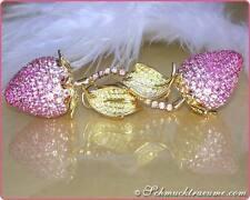 Echter Edelsteine-Ohrschmuck aus mehrfarbigem Gold mit Saphir für Damen