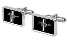 Ford Mustang pony tribar logo cufflinks gift box set - great present