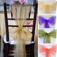 100~150PCS Organza Chair Sashes cover Wedding favor Party Banquet Bows Decor