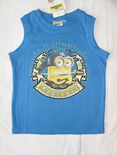BNWT minions vest top / sleeveless t-shirt.3,4,6 or 8years