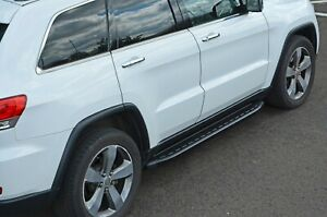 Black Side Steps Bars Running Boards To Fit Jeep Grand Cherokee (2011+)
