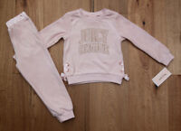 Juicy Couture Toddler Girl Velour Pull Over Jogging Set ~ Pale Pink & Gold ~