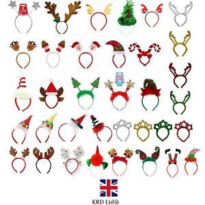 CHRISTMAS HEADBOPPER Kids Adult Headbands Head Bopper Novelty Fun Fancy Dress UK