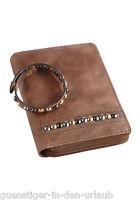BRUNO BANANI Damen Leder Geldbeutel Portemonnaie Geldbörse mit Armband