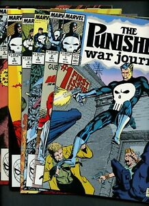 Punisher: War Journal 1,2,3,4,5,6 (1988-89 Marvel) ^6 Books^ Daredevil! Jim Lee!