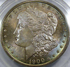 1900-O Morgan Silver Dollar Gem BU ANACS MS-64...Beautiful Pastel Tones! So Nice
