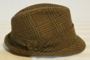 Vintage 1950's STETSON Trilby Fedora Brown Size 6 7/8 Hat — 100% Wool